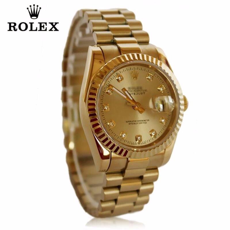 đồng hồ kim chống nước FULL GOLD kính saphire mã RL686 5