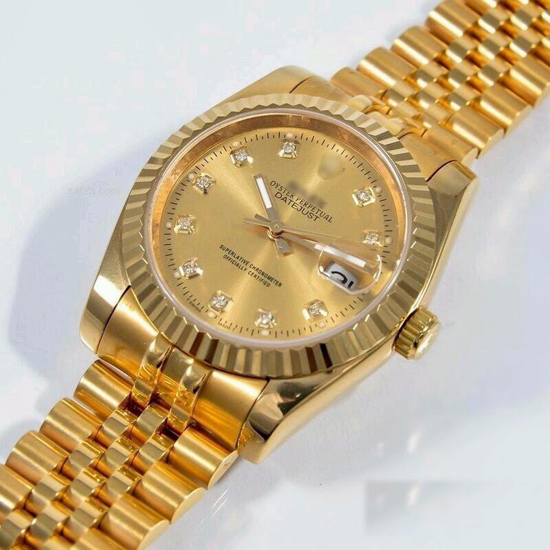 đồng hồ kim chống nước FULL GOLD kính saphire mã RL686 6