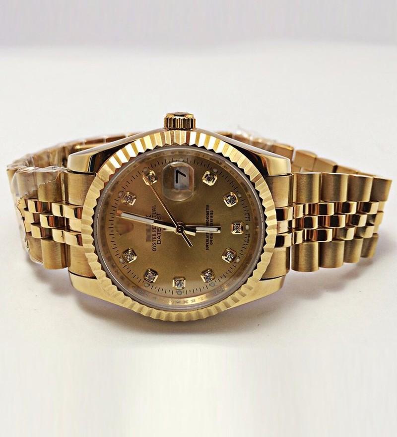 đồng hồ kim chống nước FULL GOLD kính saphire mã RL686 3