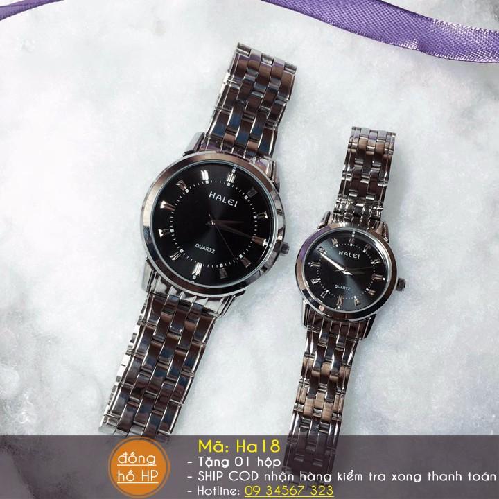[VIDEO] Đồng hồ cặp đôi Halei cao cấp chịu nước - Giá 1 đôi - 712 12