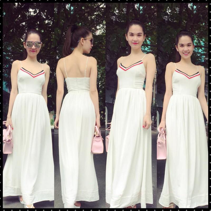 HÀNG THIẾT KẾ-Đầm Maxi 2 Dây Viền Màu Xinh Như Ngọc Trinh 1