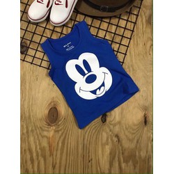 Áo thun ba lỗ Mickey ngày hè năng động - màu Xanh