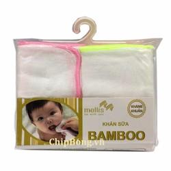 10 Khăn Sữa BamBoo Kháng Khuẩn - Mollis Cao Cấp