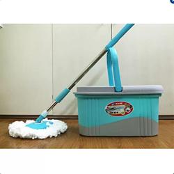 Chổi lau nhà 360 độ bida mop 2 bông tím