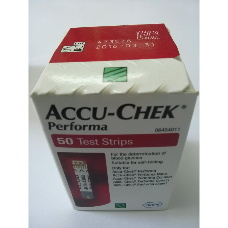 Que thử đường huyết Performa hộp 50 1