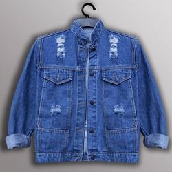 áo khoác jean rách