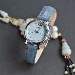 Đồng hồ nữ JULIUS Hàn Quốc dây da JU1178 Xanh