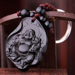 Móc treo chìa khoá phong thuỷ hình Phật Di Lặc