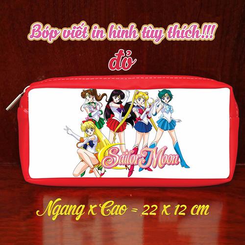 Bóp Viết In Hình Sailor Moon Thuỷ Thủ Mặt Trăng