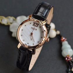 Đồng hồ nữ JULIUS Hàn Quốc dây da JU1178 Đen