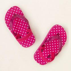 Dép xỏ ngón có quai hậu Children Place màu hồng chấm bi - bé 4 tuổi