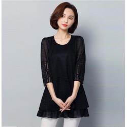 áo kiểu nữ dáng dài trẻ trung AV923