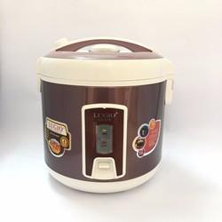 Nồi cơm điện LUGIO LG-918 màu tím đỏ kem