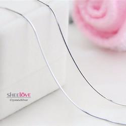 Dây chuyền nữ S925 lụa đơn giản thời trang sang trọng SN-L02