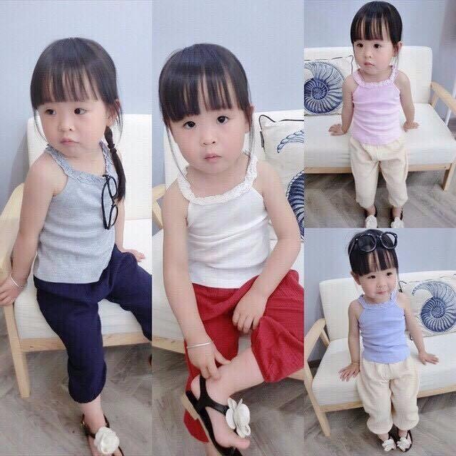 Áo cổ yếm dễ thương cho bé gái 1-8 tuổi 3