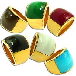 Nhẫn mặt đá màu NF268