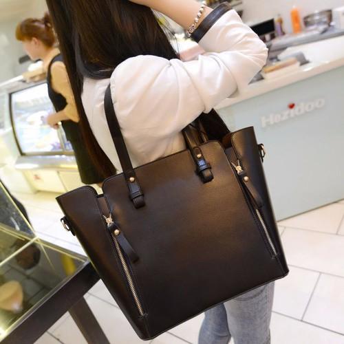 [TẶNG NƯỚC HOA Mini ] Set 2 túi xách nữ oversize cao cấp da mềm đựng vừa giấy A4, giáo án KDR-TX139