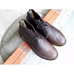 Giày dr nam cổ lửng boot Chelsea classic màu đen