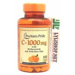 Puritan Pride Vitamin C 1000mg 100 viên của Mỹ