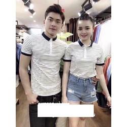 áo thun couple sọc ngang cực style