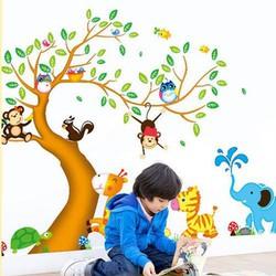 Combo 2 Decal Dán Tường Vườn Thú Cho Bé 201867