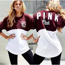 Áo thun cánh dơi lót nỉ nhẹ in chữ PINK trẻ trung,năng động-A2514