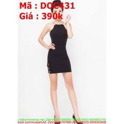 Đầm ôm dự tiệc thiết kế cổ yếm dây phong cách sành điệu DOV431 View