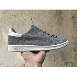 Giày Sneaker Stan Smith nam nữ xám mới chất năng động cá tính