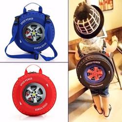 Balo hình bánh xe cho bé phụ kiện sành điệu ,đa năng cho trẻ 4-6 tuổi