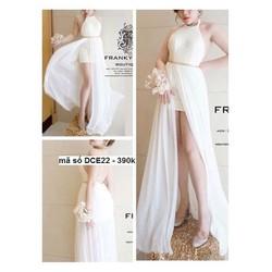 Đầm dạ hội cổ yếm xẻ đùi cao quyến rũ sang trọng sDCE22