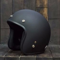 Mũ bảo hiểm chuyên phượt đen nhám