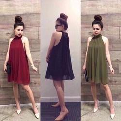 Đầm Yếm Suông Cột Dây