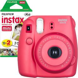 Bộ máy ảnh lấy liền Fujifilm Instax Mini 8 đỏ và phim chụp 10 tấm