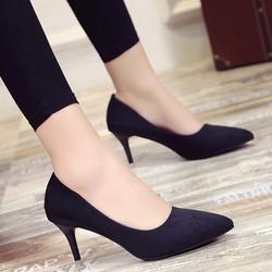 Giày cao gót 5cm bít mũi nhọn đẹp