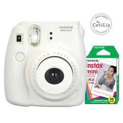 Bộ máy ảnh lấy liền Fujifilm Instax Mini 8 trắng và phim chụp 10 tấm