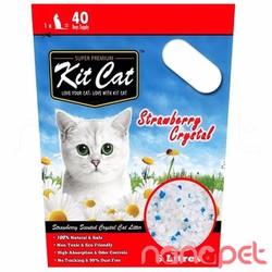 Cát Thủy Tinh KitCat Hương Dâu Cho Mèo Túi 5L