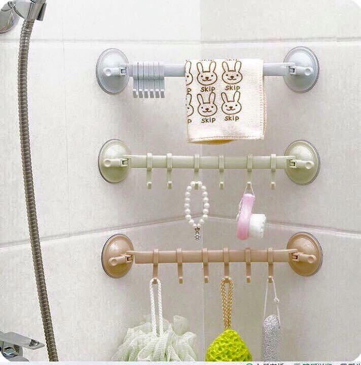 combo 3 thanh treo đồ nhà tắm hút chân không 1