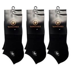 Combo 6 đôi Tất Vớ nam CONVER cổ ngắn Free Size khử mùi màu đen