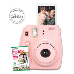 Bộ máy ảnh lấy liền Fujifilm Instax Mini 8 hồng và phim chụp 10 tấm