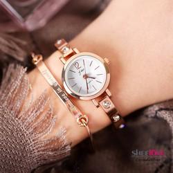 Đồng hồ nữ  dây lắc tay đính đá thời trang sang trọng WH-JW3438