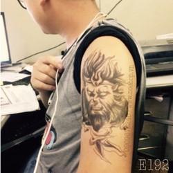Hình Xăm Dán Tattoo Mặt Quỷ E192
