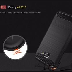 Ốp lưng Galaxy A7 2017 Viseaon Rugged Armor nhựa mềm + Kính cường lực