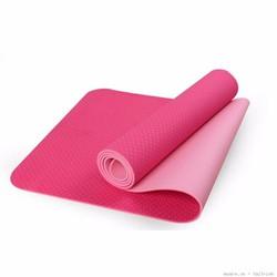 Thảm tập yoga 6mm 2 lớp - Màu hồng - Tặng túi thời trang