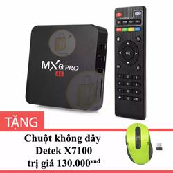Android TV Box MXQ Pro 4K màu Đen tặng Chuột không dây Detek X7100