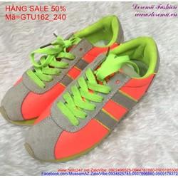 Sale off  giày thể thao nữ cổ thấp màu sắc trẻ trung GTU162