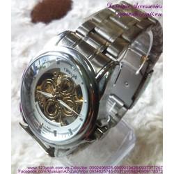 Đồng hồ cơ inox Ome cánh hoa sang trọng đẳng cấp DHDT120