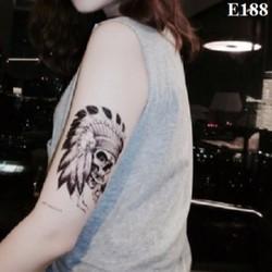 Hình Xăm Dán Tattoo Thổ Dân E188