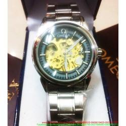 Đồng hồ cơ inox Ome cổ máy thời gian sang trọng DHDT112