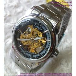 Đồng hồ cơ inox Ome vòng quay thời gian sang trọng DHDT117