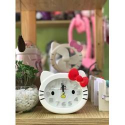 Để bàn trang trí nhà - Đồng hồ để bàn hình Mèo Kitty